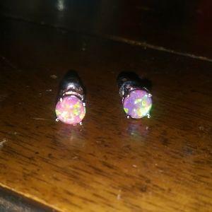 Jewelry - NEW! Pretty In Pink! Pink Fire Opal Earrings